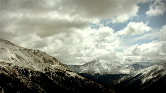 Snow Storm Mountains Colorado Rockies Ski Snowboard Wilderness Environment LOOP video