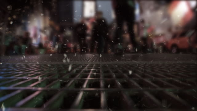 Snow Time Square video