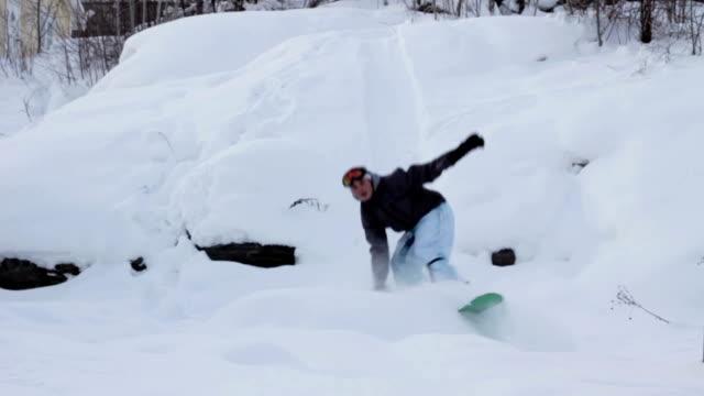 Snowboard - Falling Teenager video