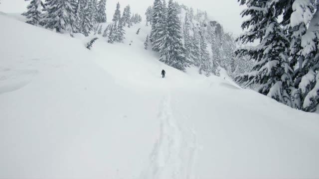 Snowboard Hiking Backcountry Fresh Powder Mood video