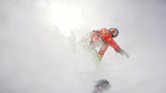 snowboarding fail in a deep snow video