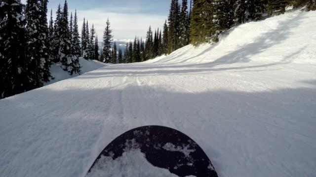 Snowboarding POV video