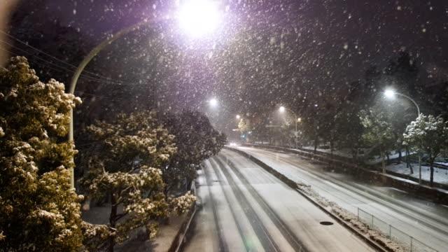 2018 年 2 月 2 日に 2 時東京に降雪 ビデオ