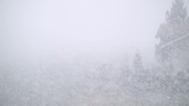 Snowfall on blurred out landscape video