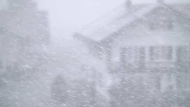 Snowfall on defocused landscape video