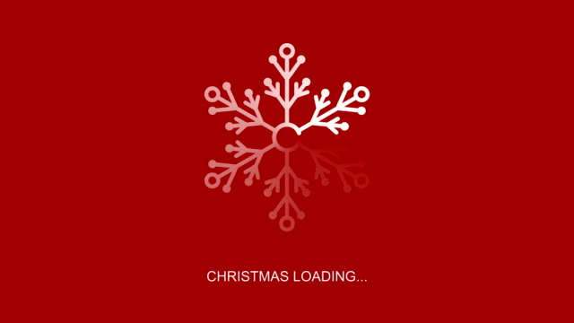 snowflake as loader indicator with christmas loading text - snowflake background stock videos & royalty-free footage