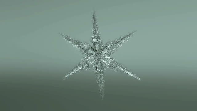 Snowflake Forming  Background video