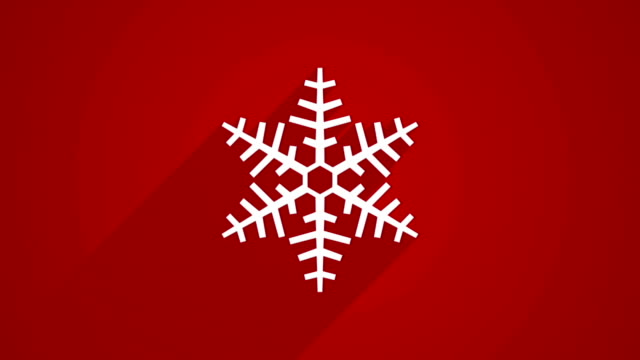 snowflake shape with long shadows on red video