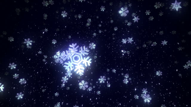 Snowflakes. 2 videos in 1. Loopable. Blue. video