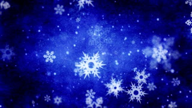 falling Snowflakes background loop - vídeo