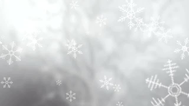 Snowflakes falling background, UHD 4k 3840x2160. video