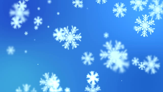Snowflakes falling down loopable winter / Christmas background