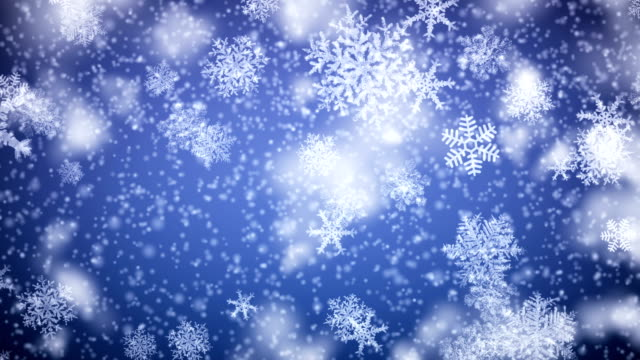 snowflakes falling. hd 1080. looped animation. - snowflake background stock videos & royalty-free footage