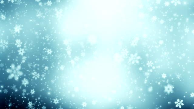 Snowing animation loop video