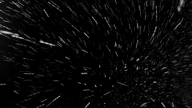 Snowing in the windy night video