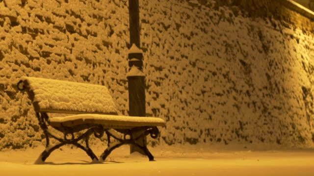 Snowing Night Bench video