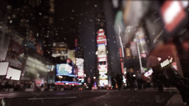 Snowing Time Square video