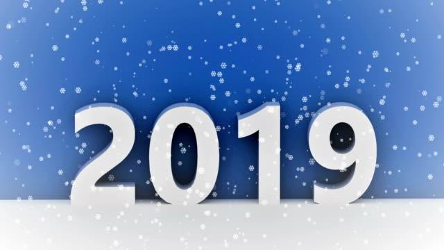 2019 schneefall - weihnachtskarte stock-videos und b-roll-filmmaterial