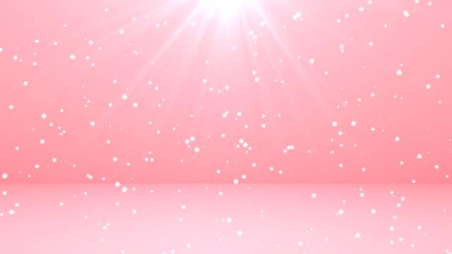 雪 - ピンク色点の映像素材/bロール