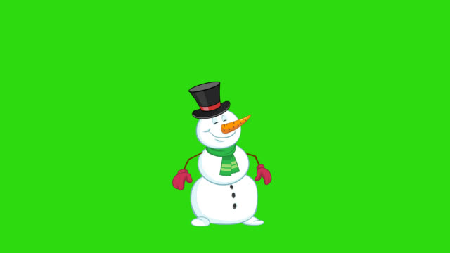 Snowman cartoon animation Cartoon snowman walking and greeting with Hands, Christmas tree and gifts. For animated Greeting Card or your Christmas video. Hand drawn classic frame-by-frame 2-d animation. snowman stock videos & royalty-free footage