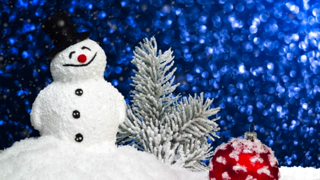 Snowman in Snow video