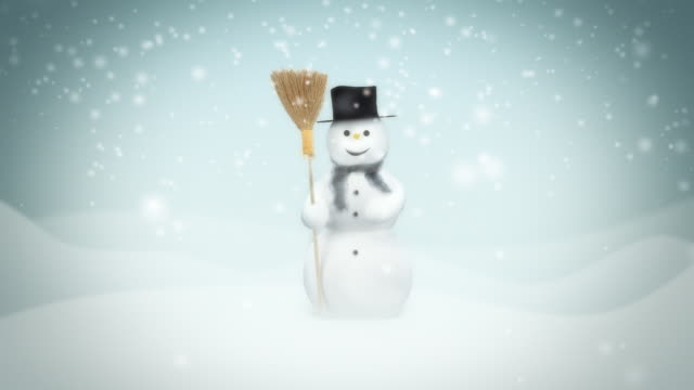 Snowman. Loop animation Loop winter animation with snowman. snowman stock videos & royalty-free footage