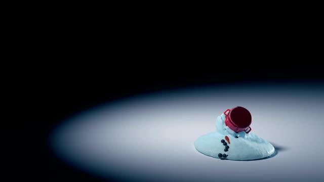 vídeos y material grabado en eventos de stock de animación de fusión de muñeco de nieve - snowman