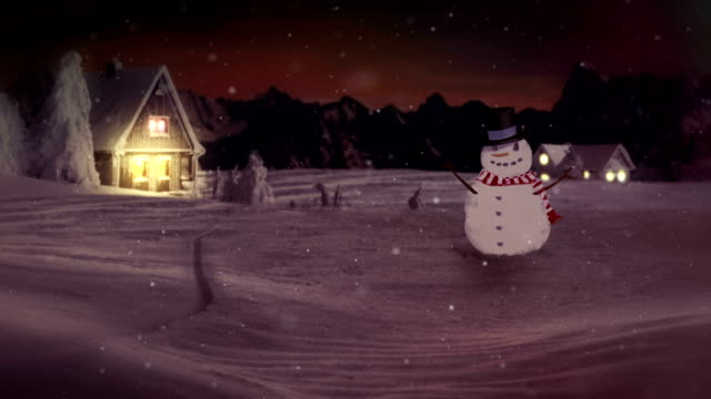 hd: snowman wishing happy holidays - happy holidays stock videos & royalty-free footage