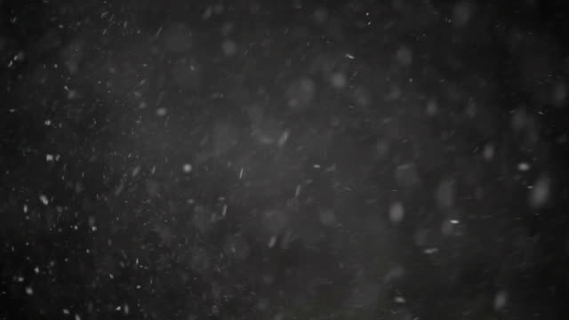 Snowstom and Snowflakes Falling Background video