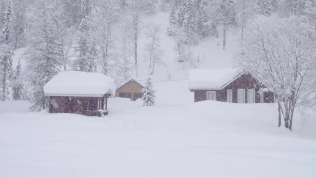 シベリアの skitouring ロッジの吹雪 - シベリア点の映像素材/bロール
