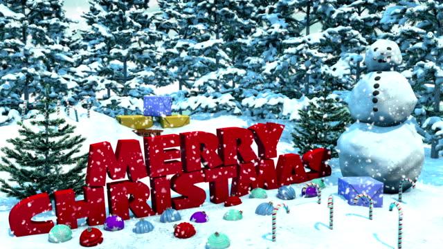 Snowy Christmas Loop video