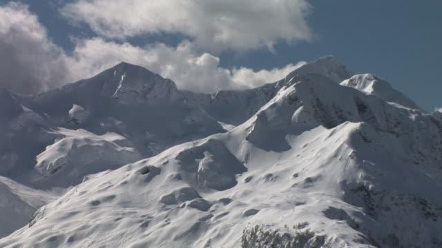 HD: Snowy mountain peaks video