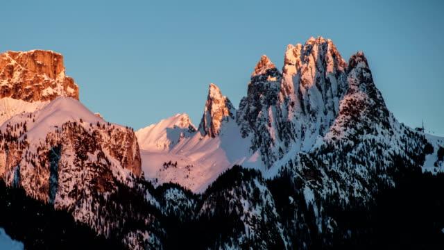 snowy mountain. - passo montano video stock e b–roll