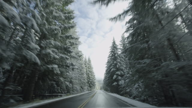Snowy Road Time Lapse