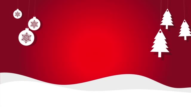 Snowy Vector Christmas Background Of Trees And Christmas balls On A String Snowy Vector Christmas Background Of Trees And Christmas balls On A String christmas decoration stock videos & royalty-free footage