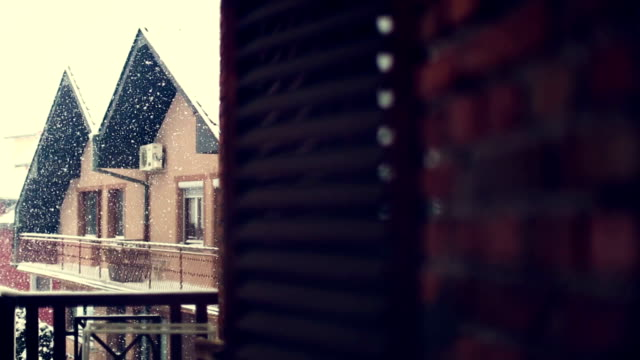 Snowy Winter Scene Snowy Winter Scene bay window stock videos & royalty-free footage
