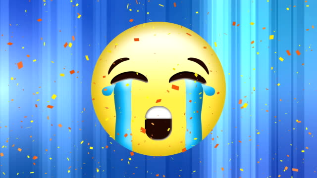 sobbing face emoji - rappresentazione umana video stock e b–roll