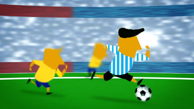 soccer Argentina Brazil ball video