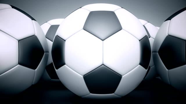 vídeos de stock, filmes e b-roll de bola de futebol. renderização 3d - futebol internacional