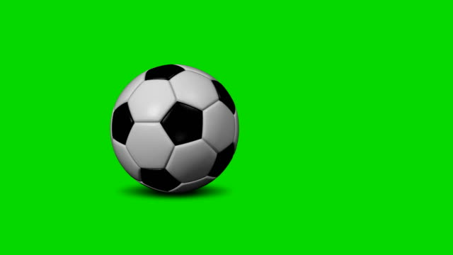 Soccer Ball (Football) 4k Transition (to Change picture and make Replays) Soccer ball rolling on chroma key background. Transition clip to change picture of your video. rolling stock videos & royalty-free footage