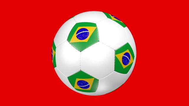 Bola de futebol Brasil - vídeo
