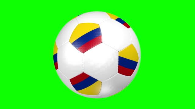 vídeos de stock, filmes e b-roll de bola de futebol da colômbia - futebol internacional