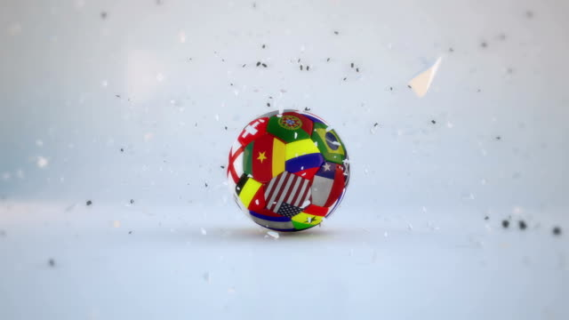 Soccer Ball Exploding and Turn video