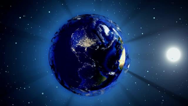 vídeos de stock, filmes e b-roll de bola de futebol sob a forma de um planeta no espaço, mapas e texturas fornecidas pela nasa, - futebol internacional