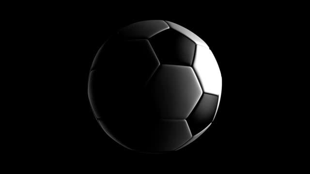 Soccer Ball isolated on black bg video