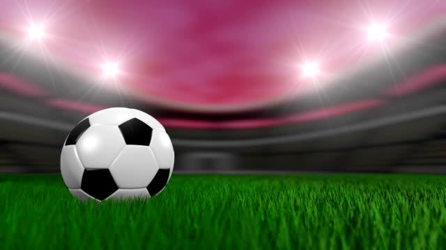 サッカーボールのループ - サッカークラブ点の映像素材/bロール