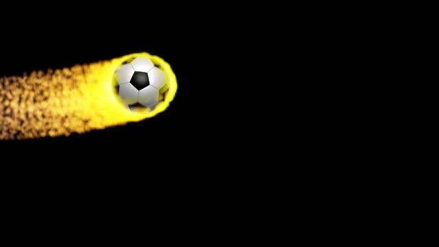 vídeos de stock, filmes e b-roll de bola de futebol em chamas - futebol internacional