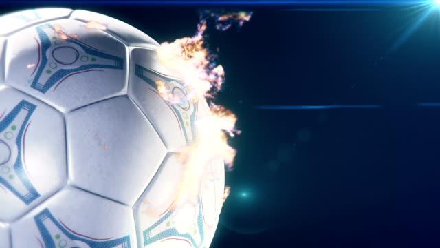 stockvideo's en b-roll-footage met soccer ball on flames - sportcompetitie