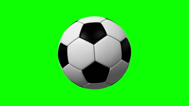 vidéos et rushes de 4k boucle tournante de ballon de soccer sur écran vert - balle ou ballon