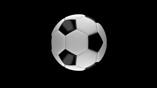 vídeos de stock, filmes e b-roll de bola de futebol de spinning - campeonato esportivo